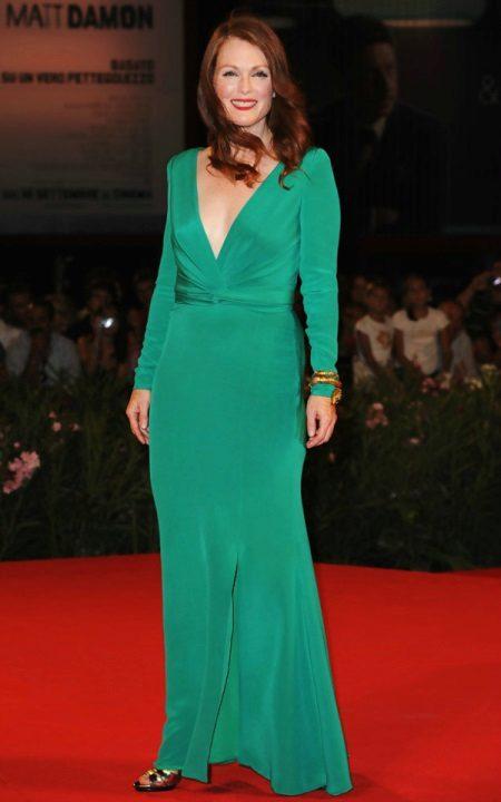 Vestido verde para as mulheres 50 anos