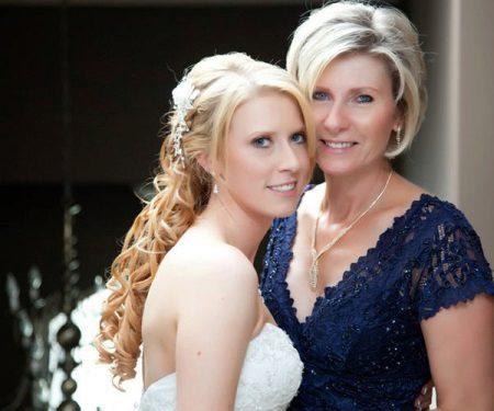 Vestido de noite para a mãe da noiva azul