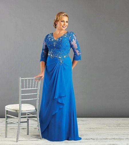 Vestido de noite brilhante para a mãe da noiva