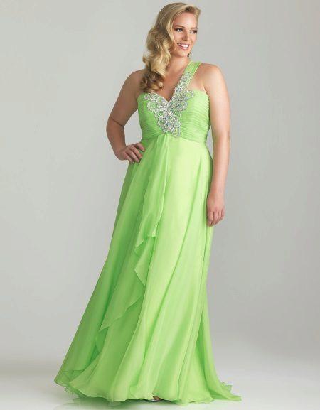 Groene jurk voor vol
