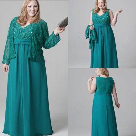 Emerald jurk voor vol