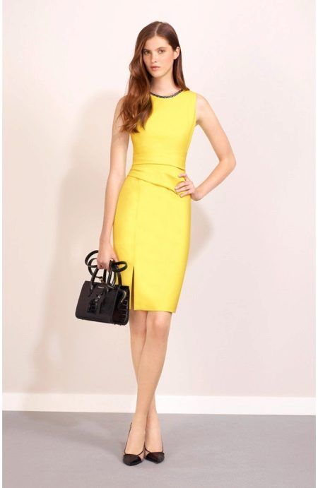 Yellow evening dress case