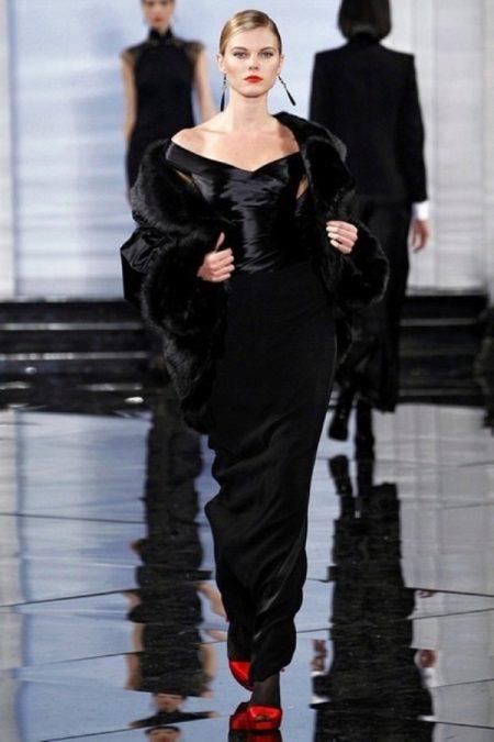 Black evening mermaid dress