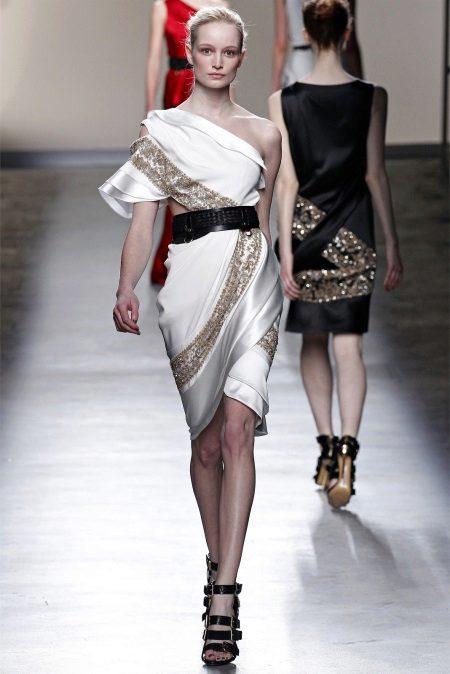 Vestido de noite grego curto
