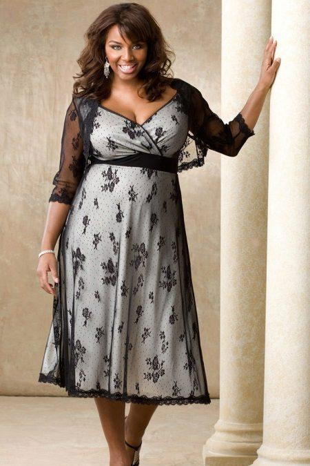 Vestit de nit elegant amb un bolero de grans dimensions