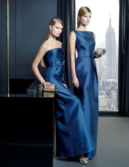 Vestidos de noite azuis
