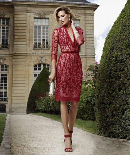 Cantik pakaian malam pendek merah