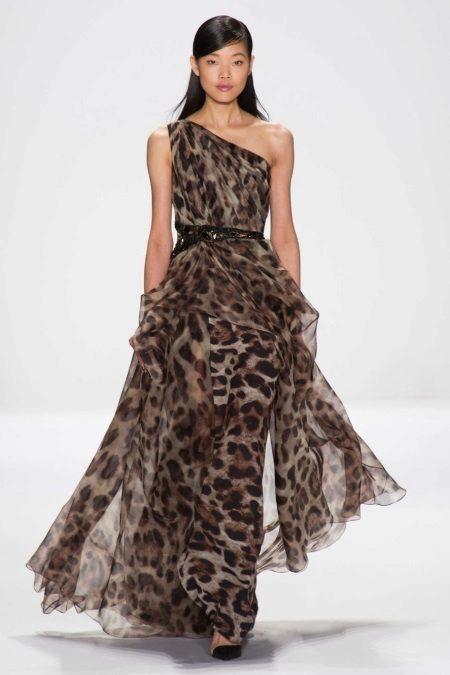 Pakaian petang dengan cetak harimau