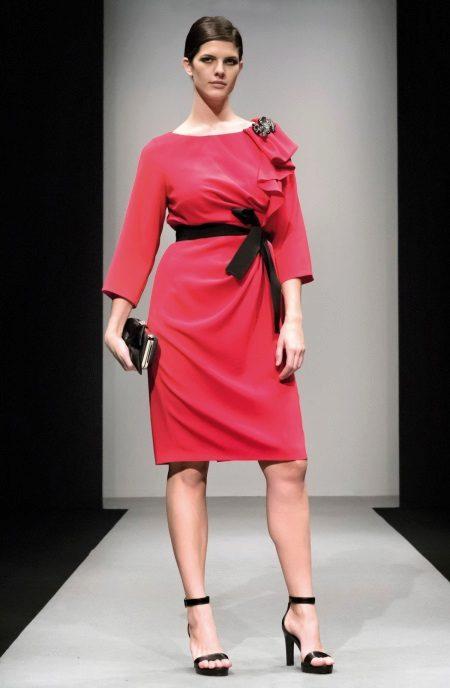 Midi-jurk voor vrouwen met overgewicht