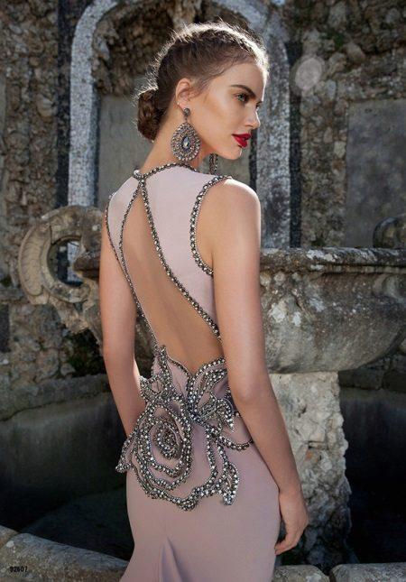 Vestido de noite com as costas abertas Tarik Ediz