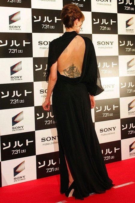 Vestido de noite Angelina Jolie