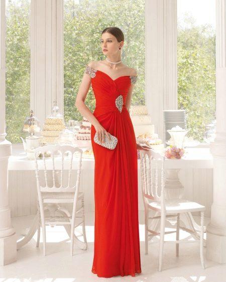 Rode jurk in de Griekse stijl van Aire Barcelona