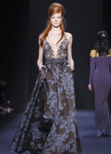 Badgley Mischka Print vestido de noite
