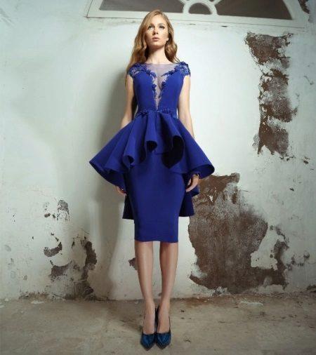 Vestido de noite azul de basky ao baile de 2016