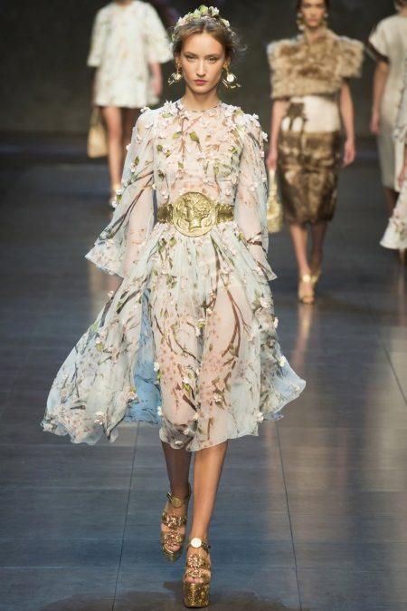 Dolce & Gabbana sifon estélyi ruha