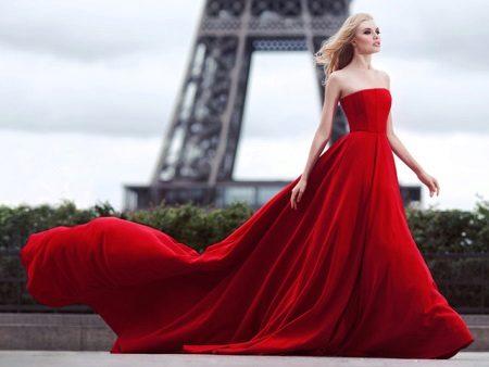 Smuk rød aftenkjole