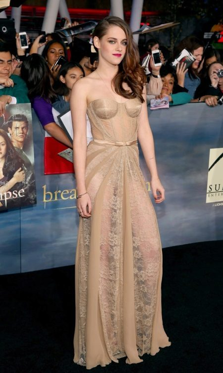Avond openhartige jurk Kristen Stewart
