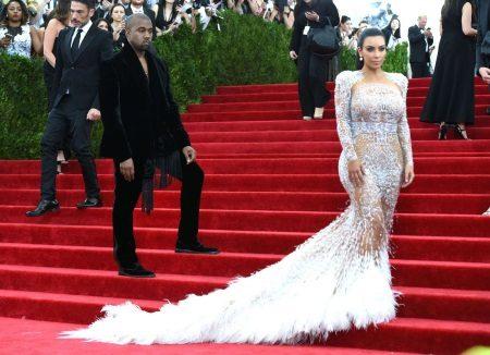 Frank kanten avondjurk Kim Kardashian