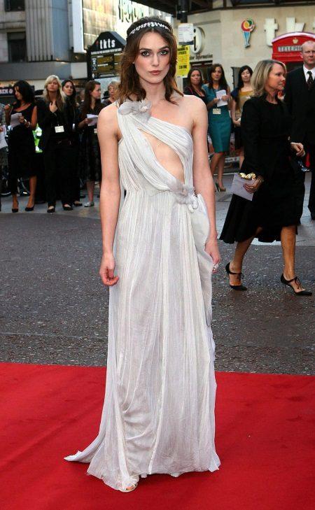 Ilta avoin mekko Keira Knightley