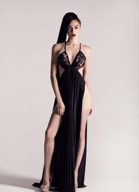 Avond openhartige jurk met een rode loper