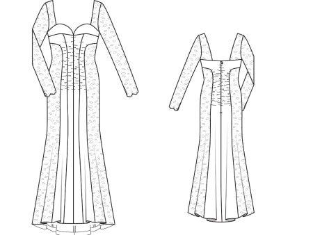Vázlat egy estélyi ruha a padlóra