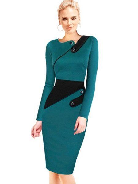 Vestido turquesa quente