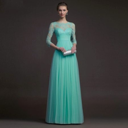 Lindo vestido turquesa