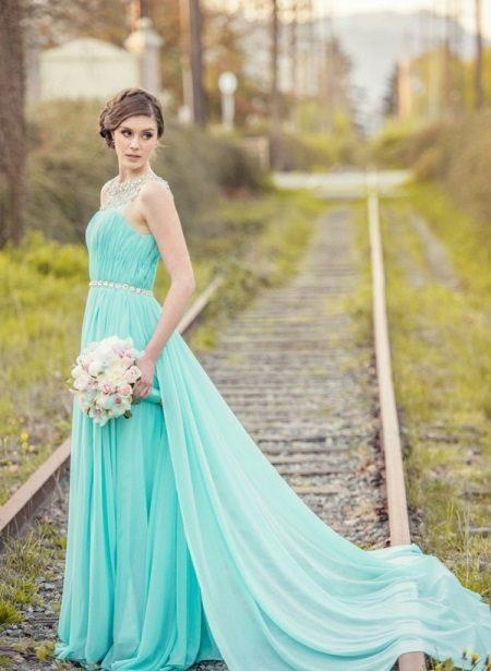 Vestido de camisa turquesa Tiffany