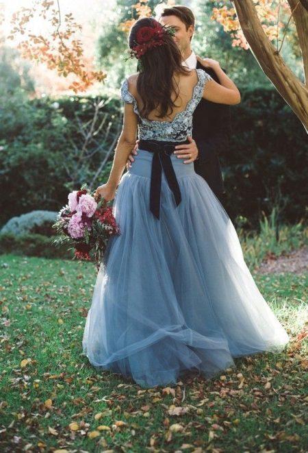Vestido azul escuro