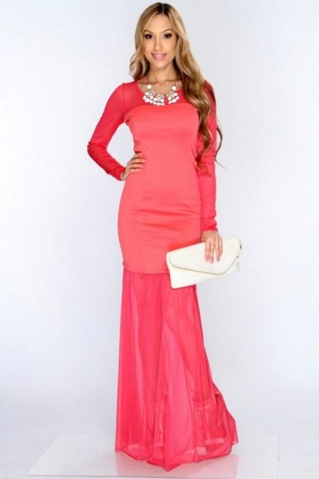 Neon Pink Coral Dress