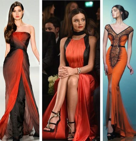 Itim at orange dresses