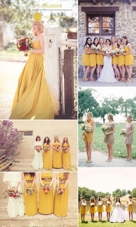 Mustard color dresses for bridesmaids
