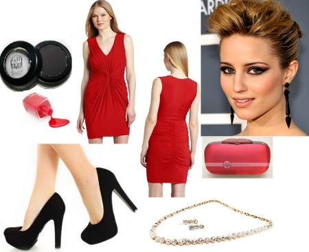 Accessories for raspberry dress