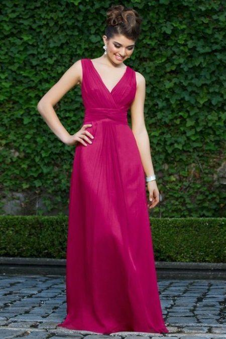 Long crimson dress