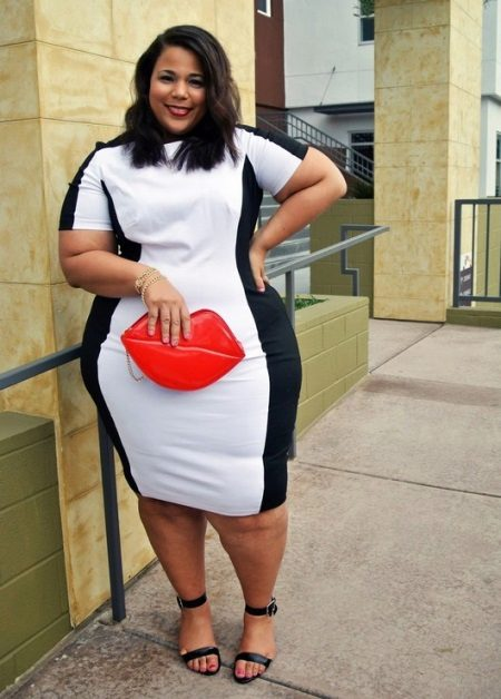 Vestit blanc i negre per a noies completes