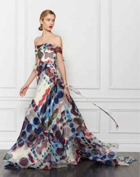 Colored dress from Carolina Herera