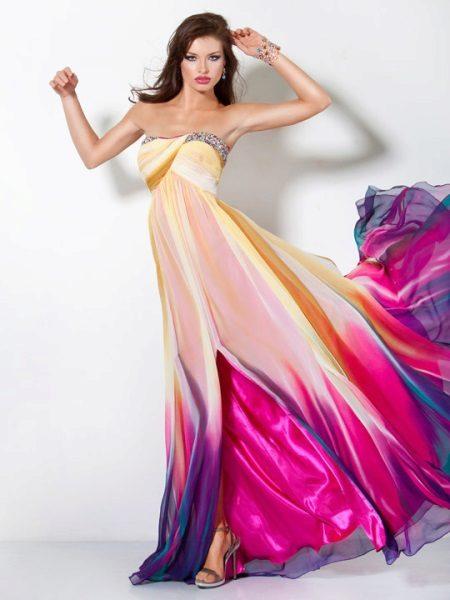 Color dress long