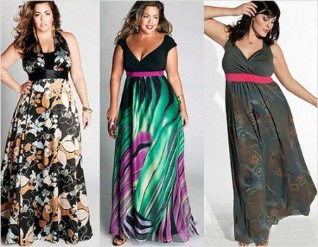 Lange jurk met de juiste stijl en kleur die de uitpuilende buik verbergt