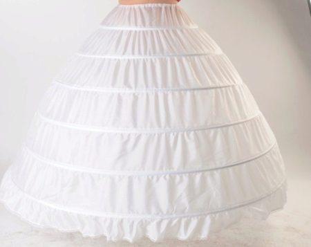 Bolyhos Petticoat gyűrűkkel