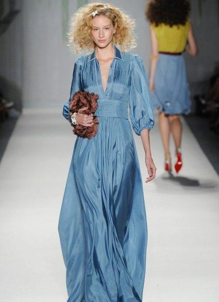 Pastel mavi elbise