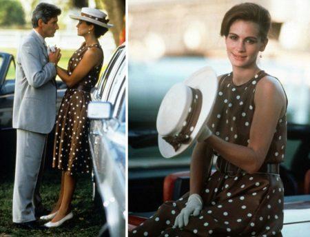 Julia Roberts 'Brown Polka Dot Dress - Pretty Woman
