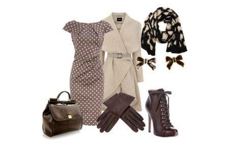 Tilbehør til beige-brun kjole