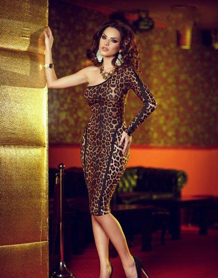 Brun leopard kjole sexet