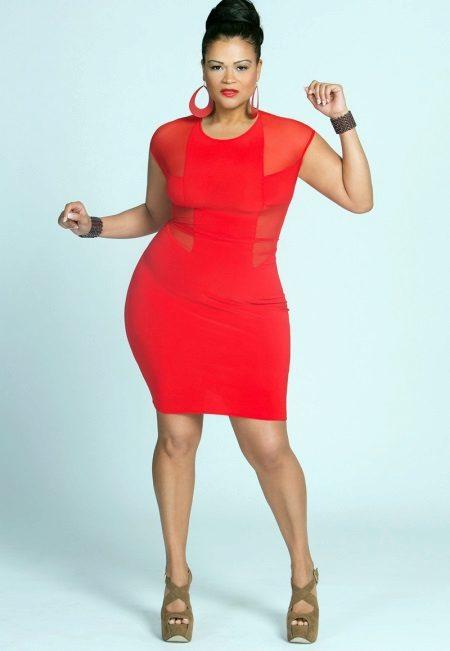 Sieraden voor de rode jurk voor vrouwen met overgewicht
