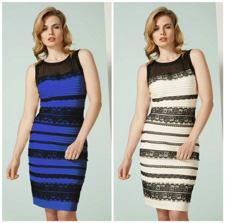 Dress with optical illusion