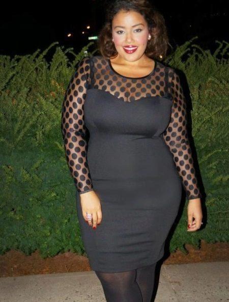 Zwarte jurk voor vrouwen met obesitas