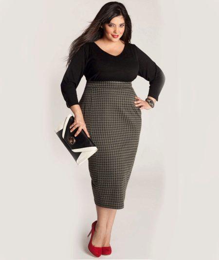 Vestit amb funda de cintura alta per a dones obeses