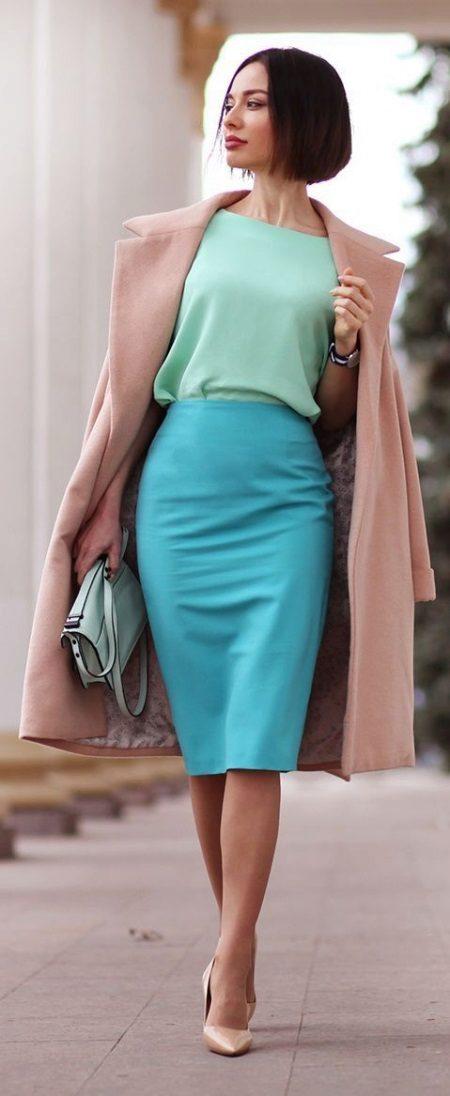 Mint dress with blue