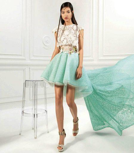Mint-white dress