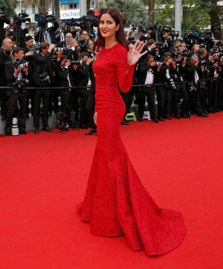 Lange rode jurk